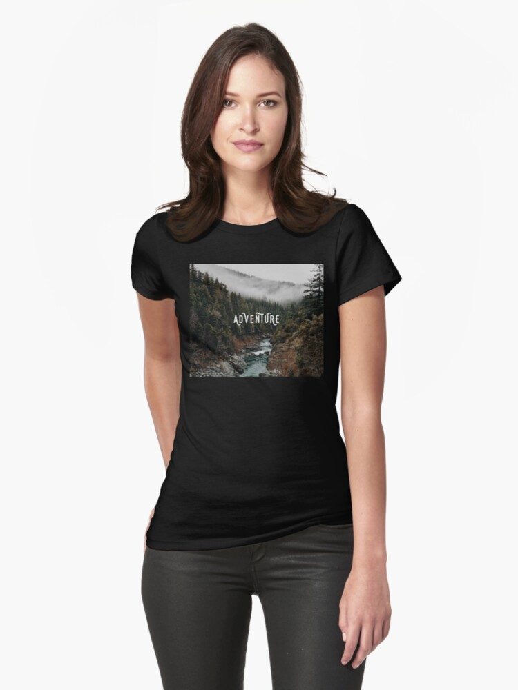 River in the Forest - Adventure Womens T-Shirt Front