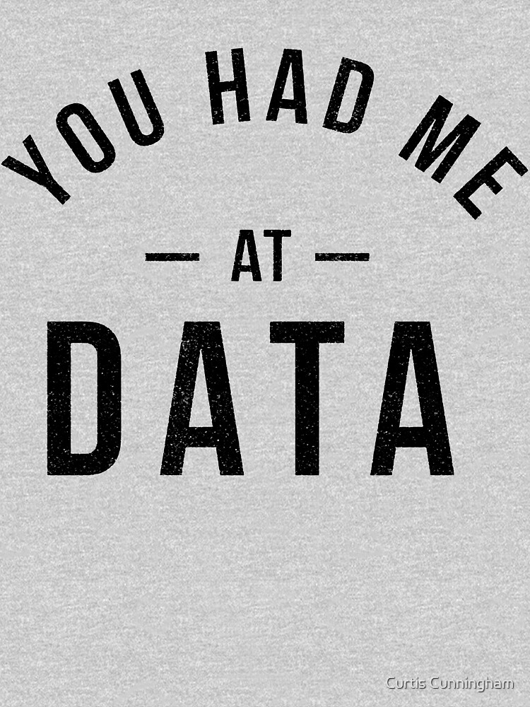 You had me at data by cupacu