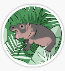 Fiona the Hippo Tropical Background Sticker