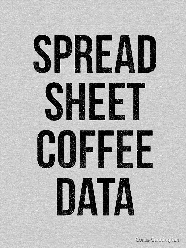 Spreadsheet Coffee Data by cupacu