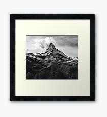 Black & White Mountains Framed Print