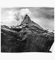 Black & White Mountains Poster
