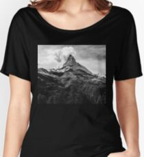 Black & White Mountains Women's Relaxed Fit T-Shirt