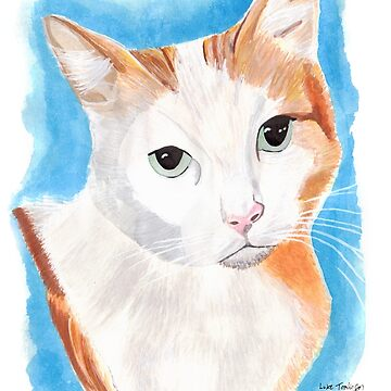 White and Ginger Cat by lucafon18