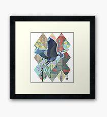 Great Blue Heron in Seattle Framed Print
