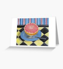 Pink Grapefruit Greeting Card