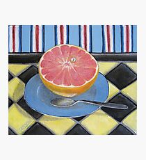 Pink Grapefruit Photographic Print