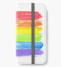 LGBT-Paradeflagge, Symbol des homosexuellen Stolzes iPhone Flip-Case/Hülle/Klebefolie