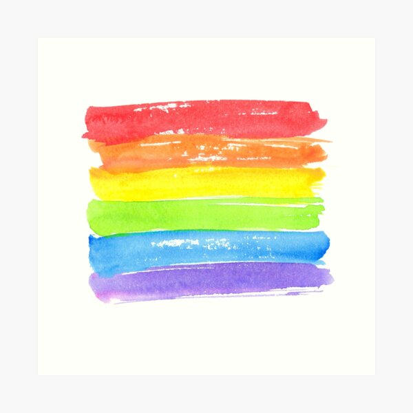 LGBT parade flag, gay pride symbol Art Print