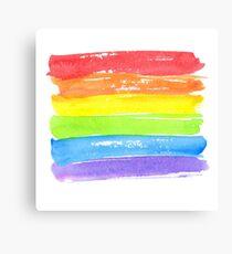 LGBT parade flag, gay pride symbol Canvas Print