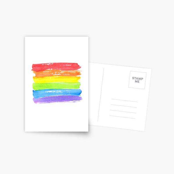 LGBT parade flag, gay pride symbol Postcard