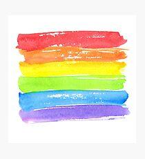 LGBT parade flag, gay pride symbol Photographic Print