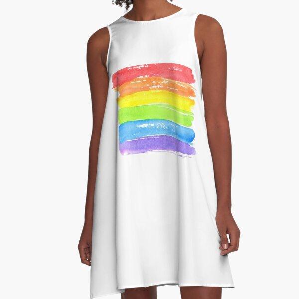 LGBT parade flag, gay pride symbol A-Line Dress