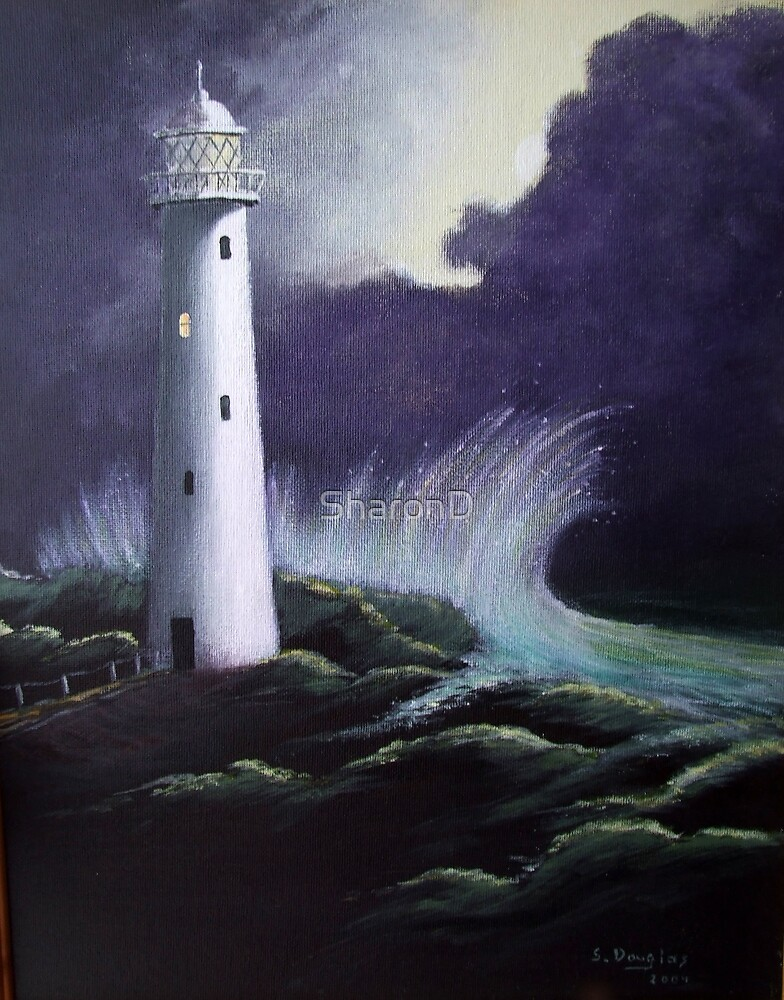 The Lighthouse-Painting by SharonD