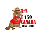 Proudly Canadian Beaver 150 Anniversary by SpiceTree