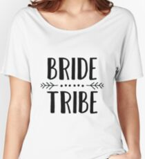 Bride Tribe - Black Relaxed Fit T-Shirt