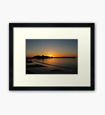 Peel Castle Sunset Framed Print