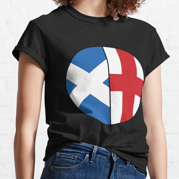 Half Scottish & English Heritage Chart Classic T-Shirt