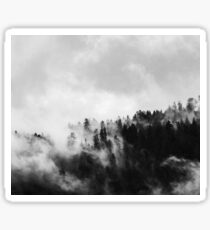 Black & White Misty Forest Sticker