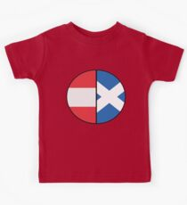 Half Austrian 50% Scottish Heritage Chart T-shirt Kids Tee