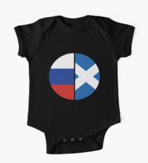 Half Russian & Scottish Heritage Chart T-shirt One Piece - Short Sleeve