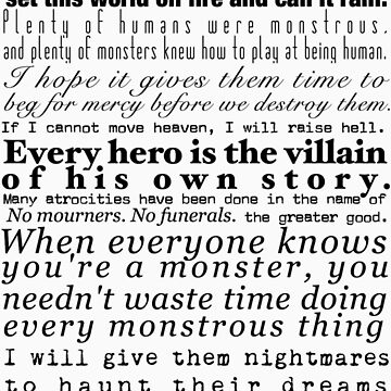 Villains- A Collection of Book Quotes by caitjacobs