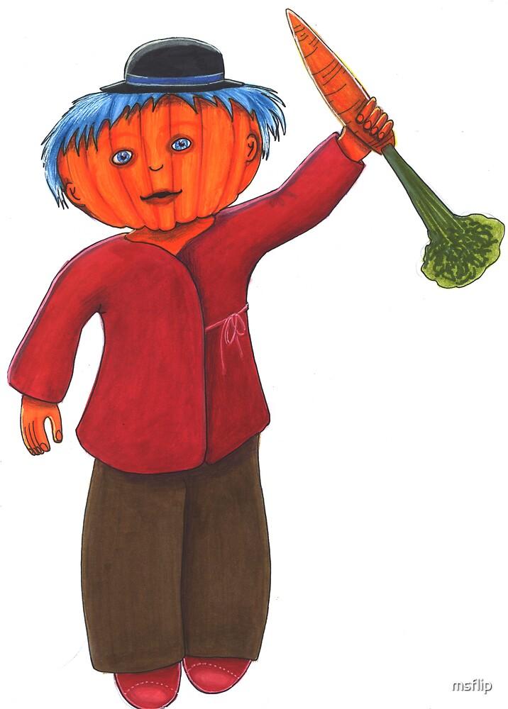 Pumpkin Head by msflip