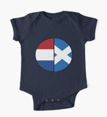 Half Scottish & Netherlands Background Roots One Piece - Short Sleeve
