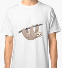 cute hanging sloth Classic T-Shirt