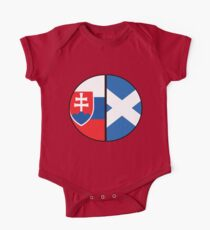 Half Slovakian Half Scottish Heritage Chart One Piece - Short Sleeve