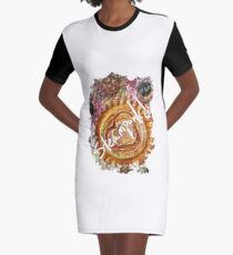 STEAMPUNK LOVE HEART Graphic T-Shirt Dress
