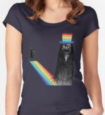 Babadook (pride month) Women's Fitted Scoop T-Shirt