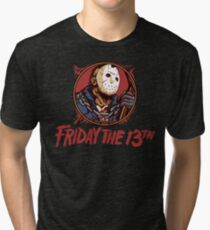 Jason Bloody Portrait ~ Friday the 13th Tri-blend T-Shirt