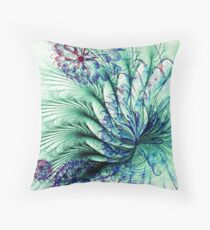 Peacock Tail Throw Pillow