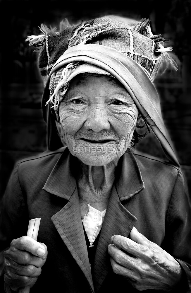 Old Burmese Woman by chrissy53