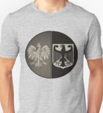 Poland Germany - New B&W Polish German Vintage-look Design T-Shirt