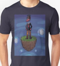 Pixel art octopus on flying island Unisex T-Shirt