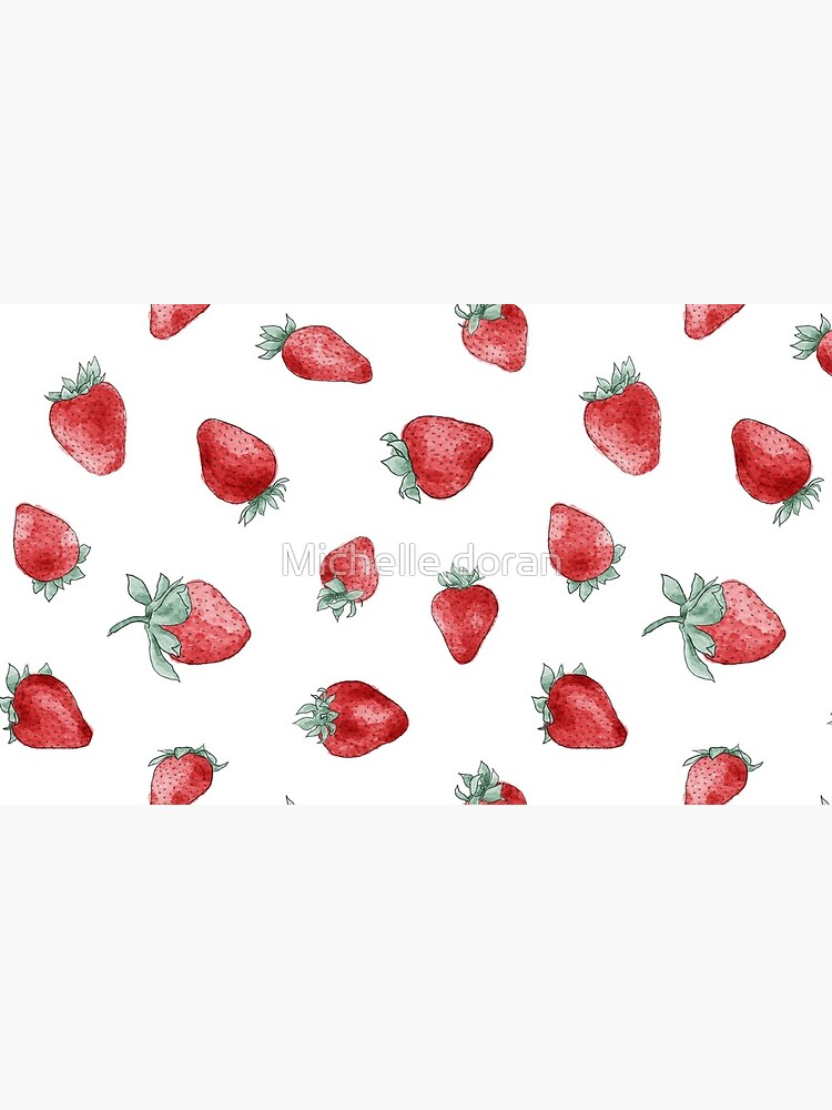 watercolor strawberry pattern by michellelobelia
