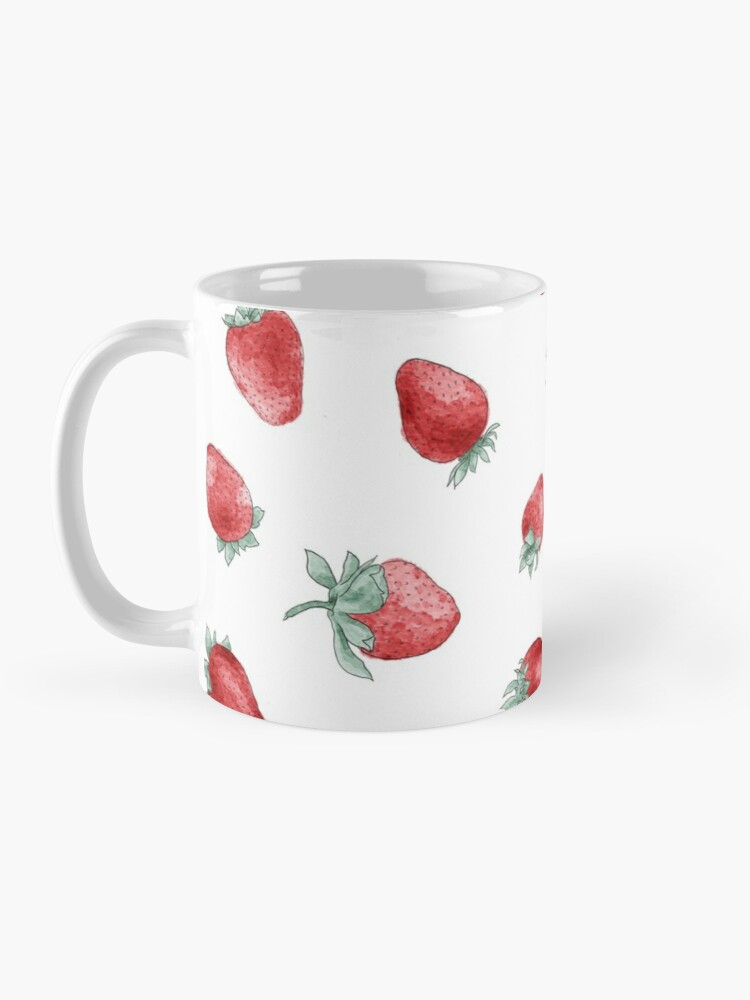 Alternate view of watercolor strawberry pattern Mug