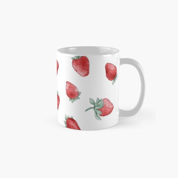 watercolor strawberry pattern Classic Mug
