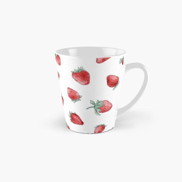 modèle de fraise aquarelle Mug long