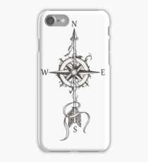 Compass with arrow iPhone Case/Skin