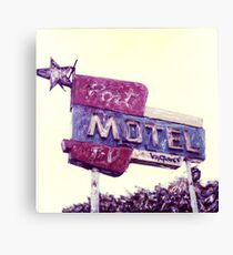 Port Motel Canvas Print