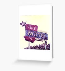 Port Motel Greeting Card