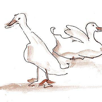 Two ducks by patsymbush