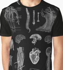 Vintage Anatomy Print  Graphic T-Shirt