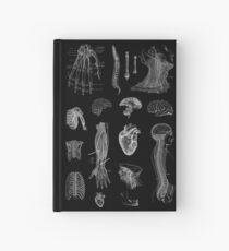 Vintage Anatomy Print  Hardcover Journal