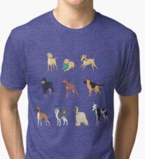 Animal Collage 1  Tri-blend T-Shirt