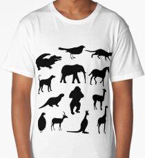 Animal Collage 2 Long T-Shirt