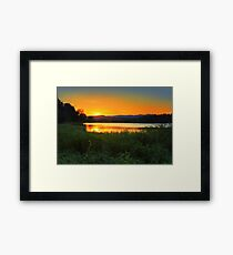 Sunset behind Blue Mountains Australia Framed Print
